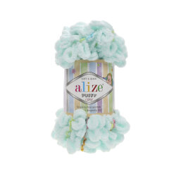 Пряжа Alize Puffy color цвет 5860