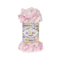 Пряжа Alize Puffy color цвет 5863