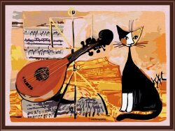 Musical cat Раскраска Color Kit CE005
