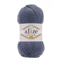 Пряжа Alize Cotton Soft Baby цвет джинс меланж 203