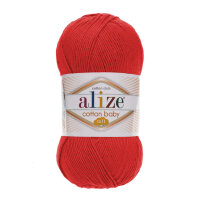 Пряжа Alize Cotton Soft Baby цвет гранатовый 259