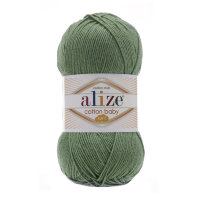 Пряжа Alize Cotton Soft Baby цвет хаки 274